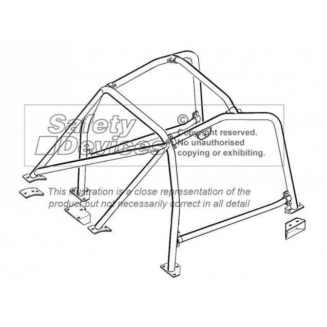 Safety Devices Fiat 131 Saloon 6 Point Bolt In Roll Cage Gsm Sport