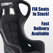 Corbeau FIA racing and Motorsport seats are in stock for fast delivery