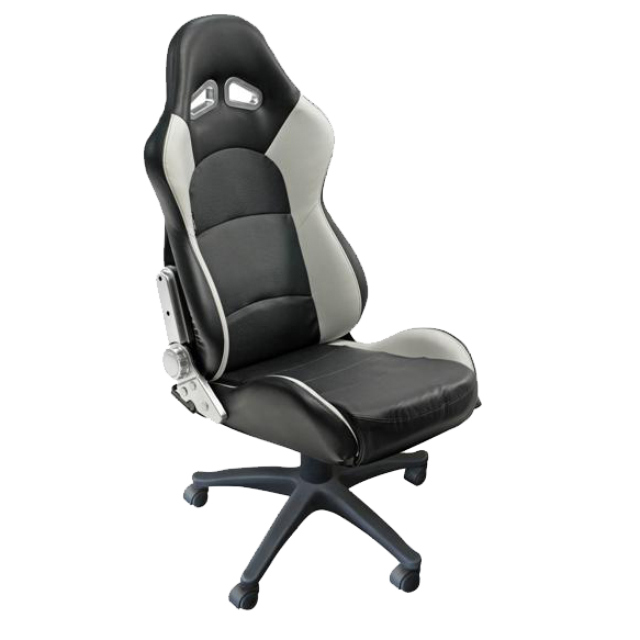 Auto Style Type Pro racing office sport seat in black and grey trim