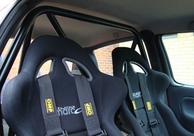 Bimarco racing FIA bucket seats fitted