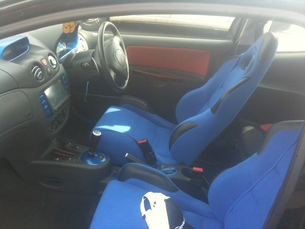 Corbeau seats fitted into a Citroen C2