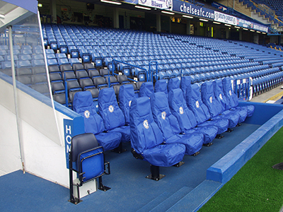 Cobra Le Man Stadia Seating installed for use