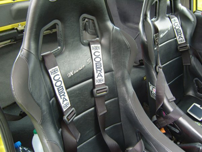 Cobra Budget harnesses fitted with Cobra Aqua Motorsport seats