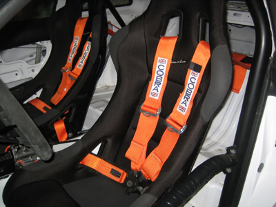 Cobra Evo harnesses fitted with Cobra Imola Motorsport seats
