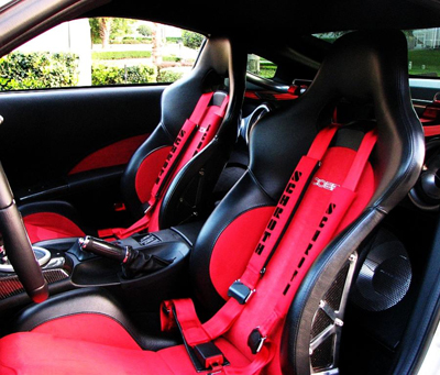 Cobra Misano Lux sport seats fitted into a sports car