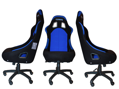 Corbeau racing office bucket seats - Styled by decades of racing design