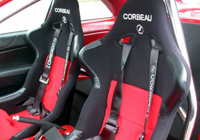 Corbeau racing bucket seats fitted ready to race