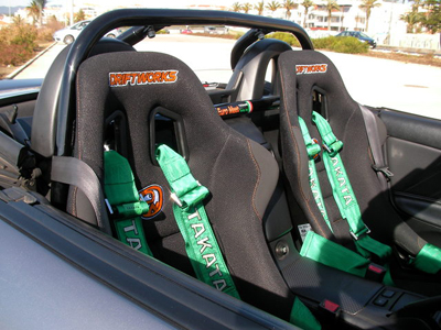 Driftworks racing seats ready for track action