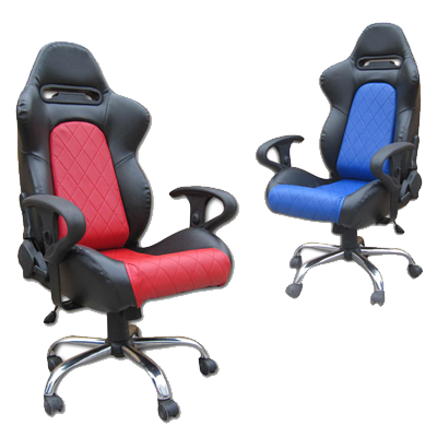 Racing office chairs and office seats with adjustable arm rests