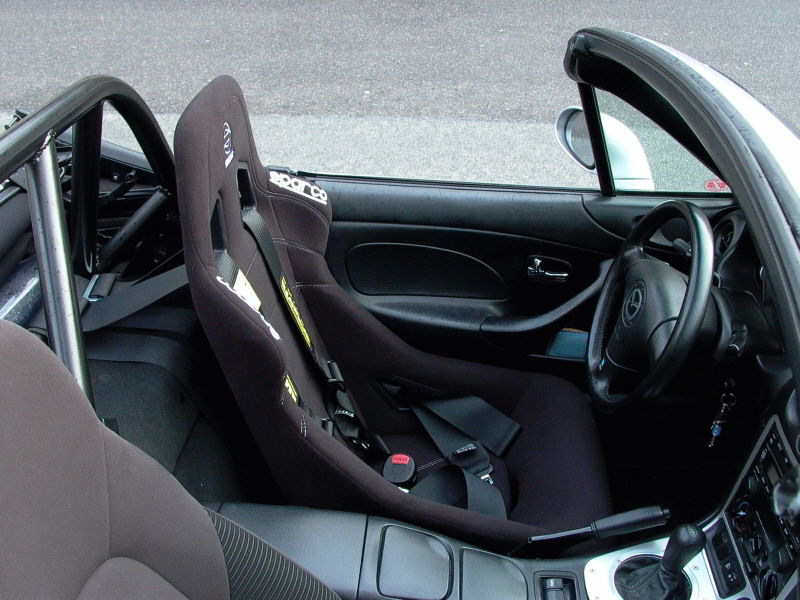 Sparco seats fitted into the Mazda MX-5 Mk1 and Mk2