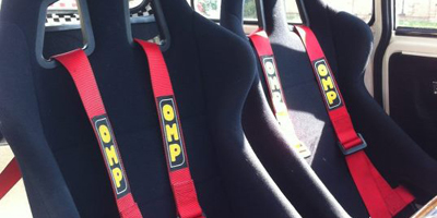 OMP red harnesses ready to race
