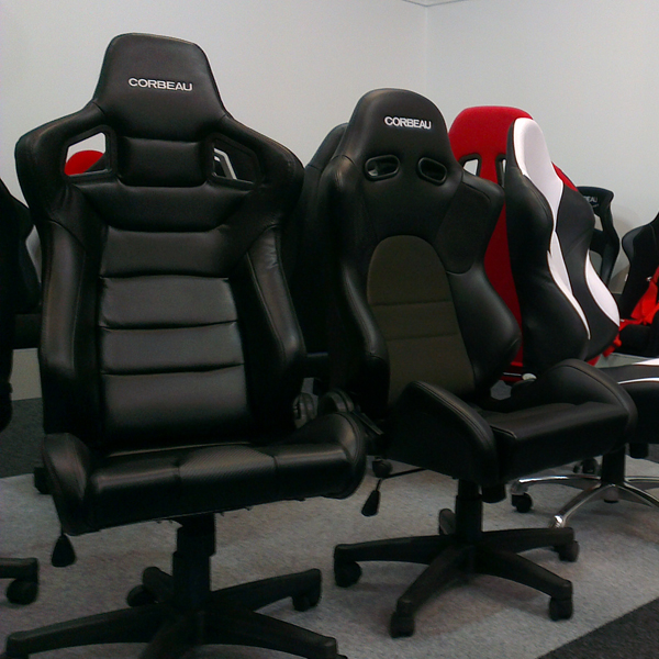 adjustable back office racing chairs with race car inspiration gsm sport seats. Black Bedroom Furniture Sets. Home Design Ideas