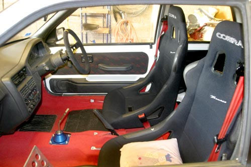 Cobra Monaco bucket seats fitted into a Peugeot 106