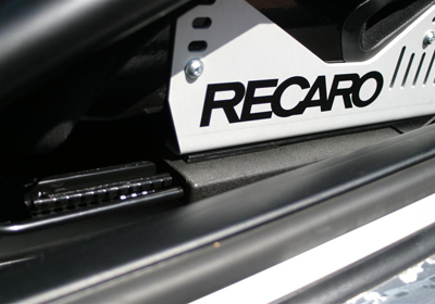 Recaro sliding runners fitted to Recaro side mounts