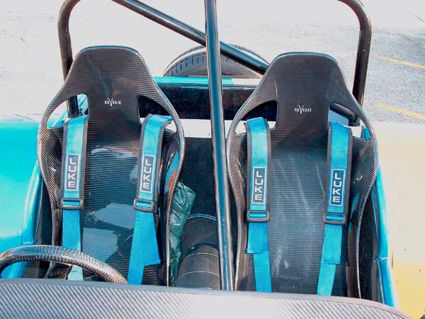 Reverie Lotus seats, car seats, FIA seats, race seats