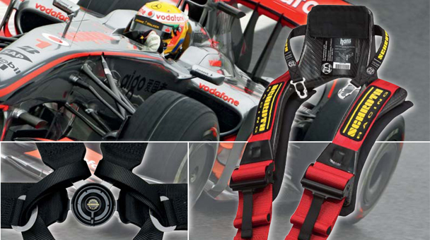 Schroth FIA Hans Motorsport harness belts. Racing harnesses and safety devices