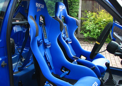 Sparco bucket seats fitted