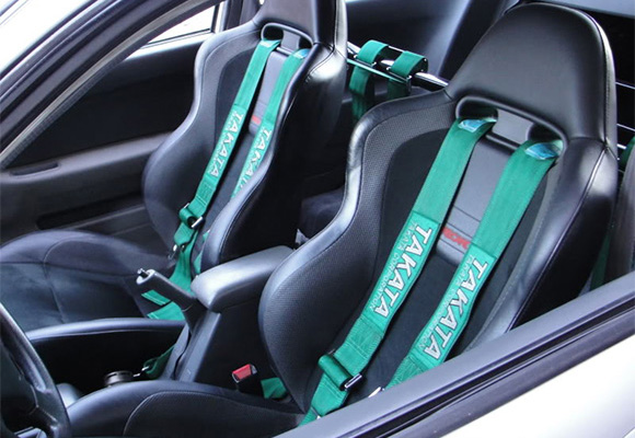 Takata racing harnesses with road car seats for extra comfort