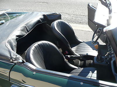 Triumph TR4 with Cobra Roadster SR bucket seats