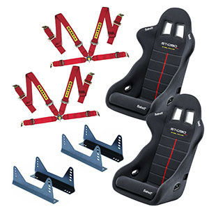 Sabelt GT-090 seats, side mounts and Sabelt harnesses