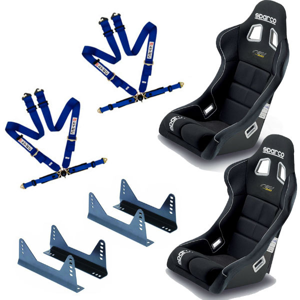 sparco rev fia bucket seats side mounts and l tec 4 point. Black Bedroom Furniture Sets. Home Design Ideas