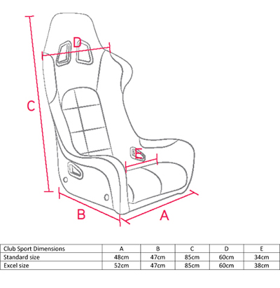 Corbeau Club Sport Bucket Seat