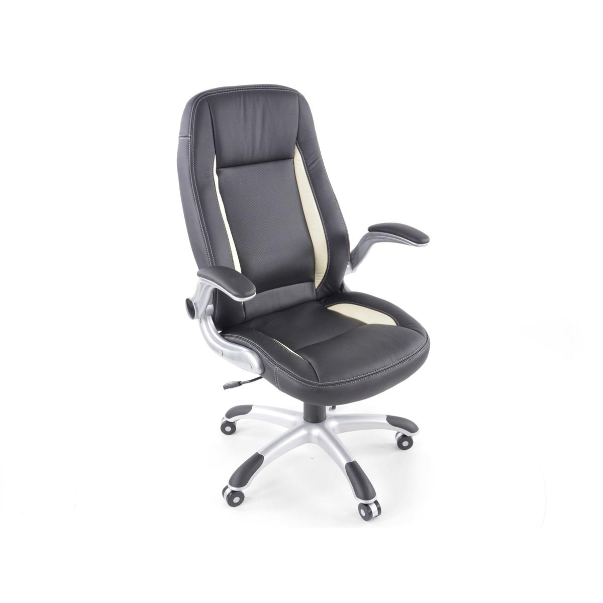 fk automotive basic racer black white office chair gsm