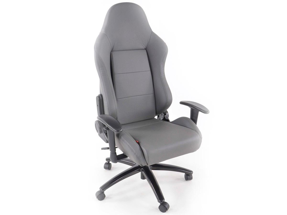fk automotive race director grey racing office chair gsm