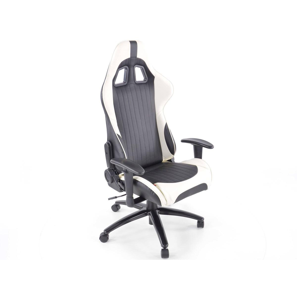 FK Automotive Racecar Executive Black White Racing Office Chair GSM Sport S