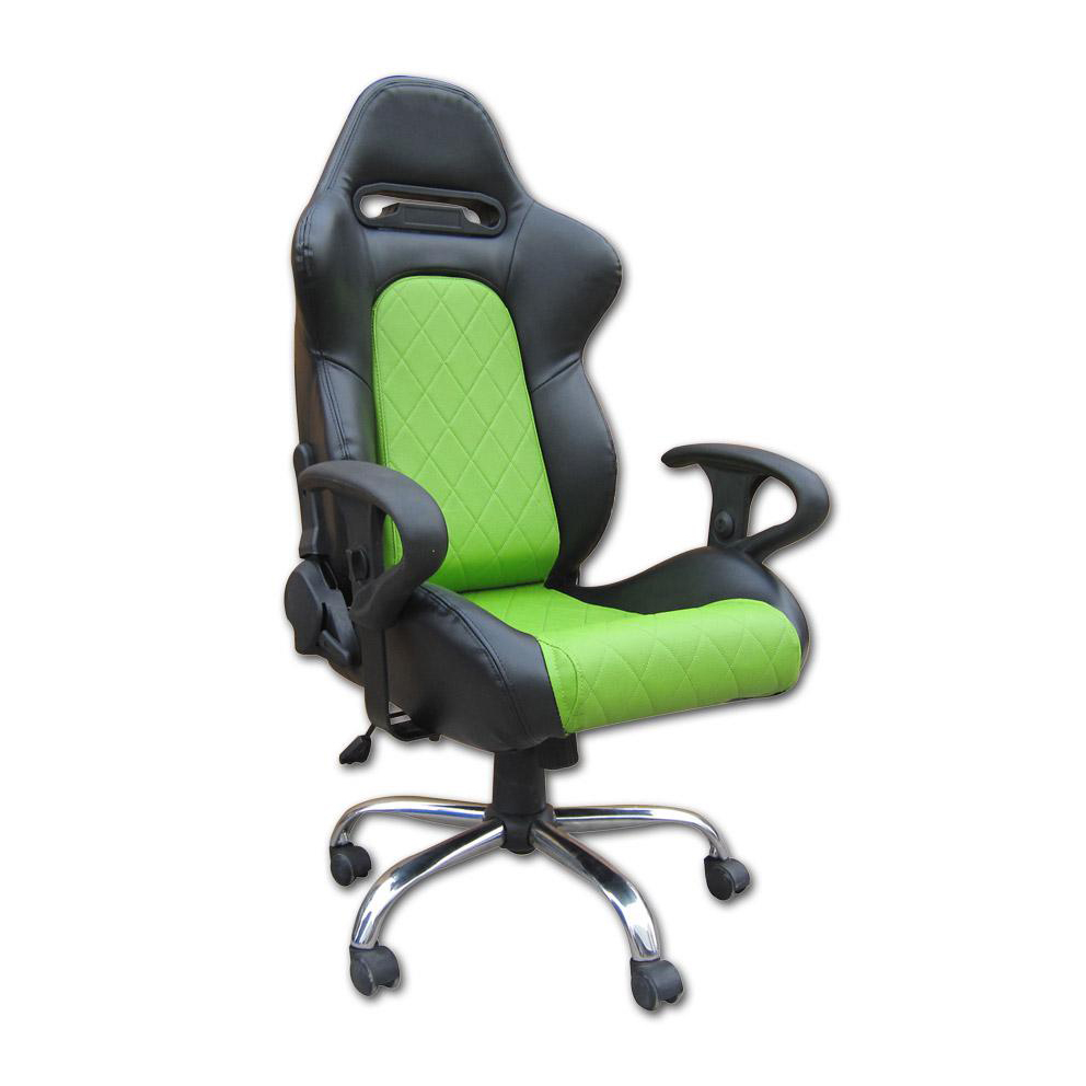 office racing chairs fk automotive detroit black green racing office
