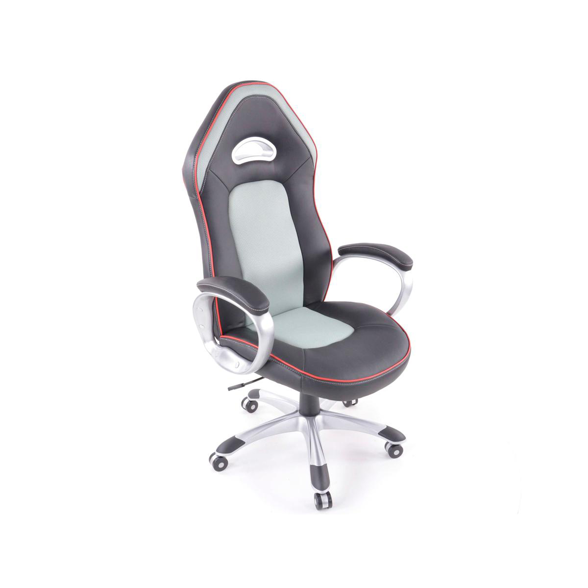 fk automotive rx racer black grey office chair gsm sport