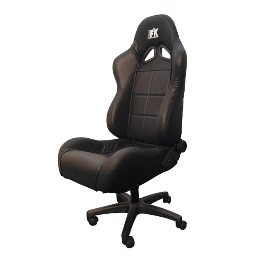 fk automotive pro sport black racing office chair gsm