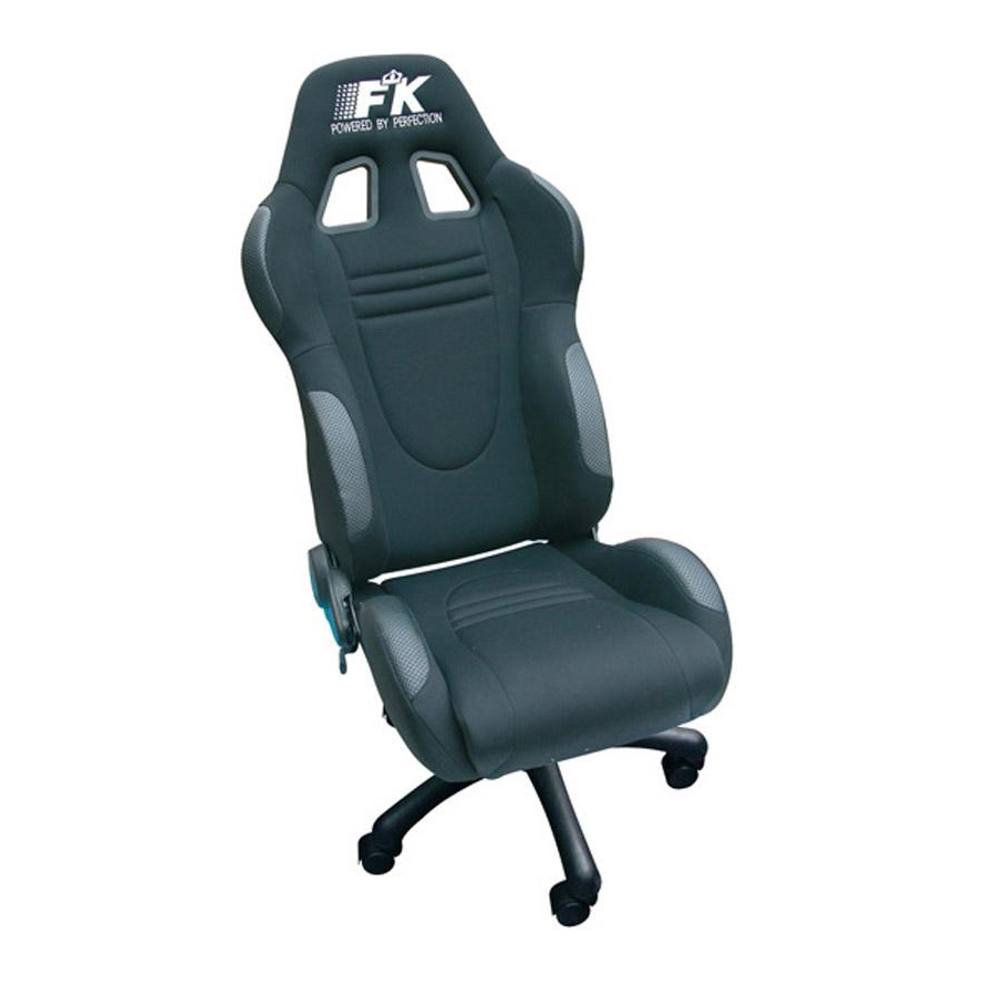 fk automotive racecar black racing office chair gsm