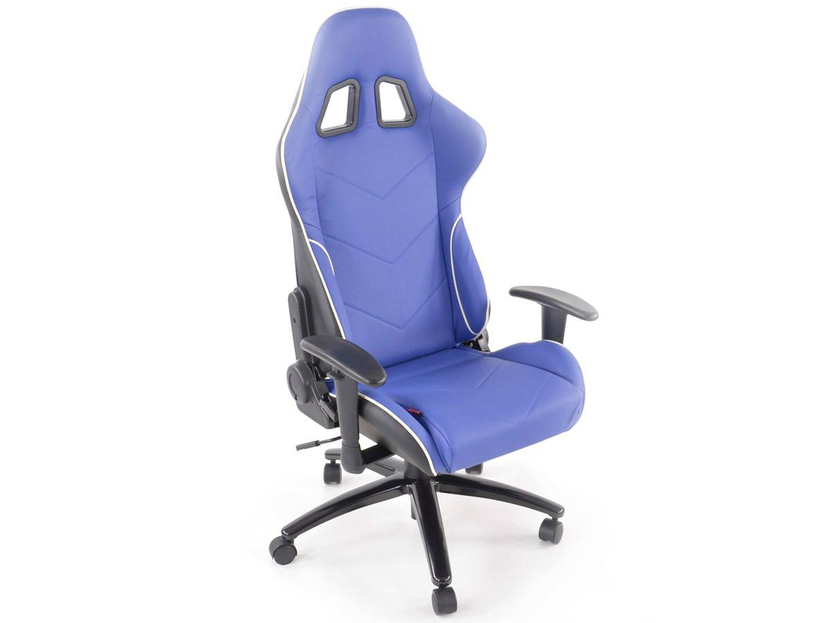 fk automotive racecar 13 blue racing office chair gsm sport seats. Black Bedroom Furniture Sets. Home Design Ideas