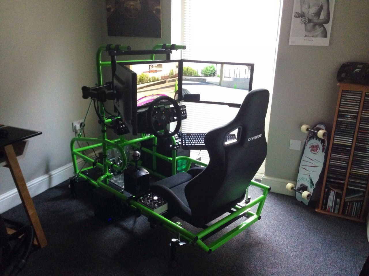 Mr Povey's race simulator