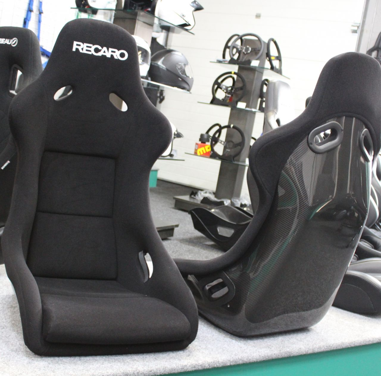 recaro pole position carbon with abe bucket seat gsm. Black Bedroom Furniture Sets. Home Design Ideas