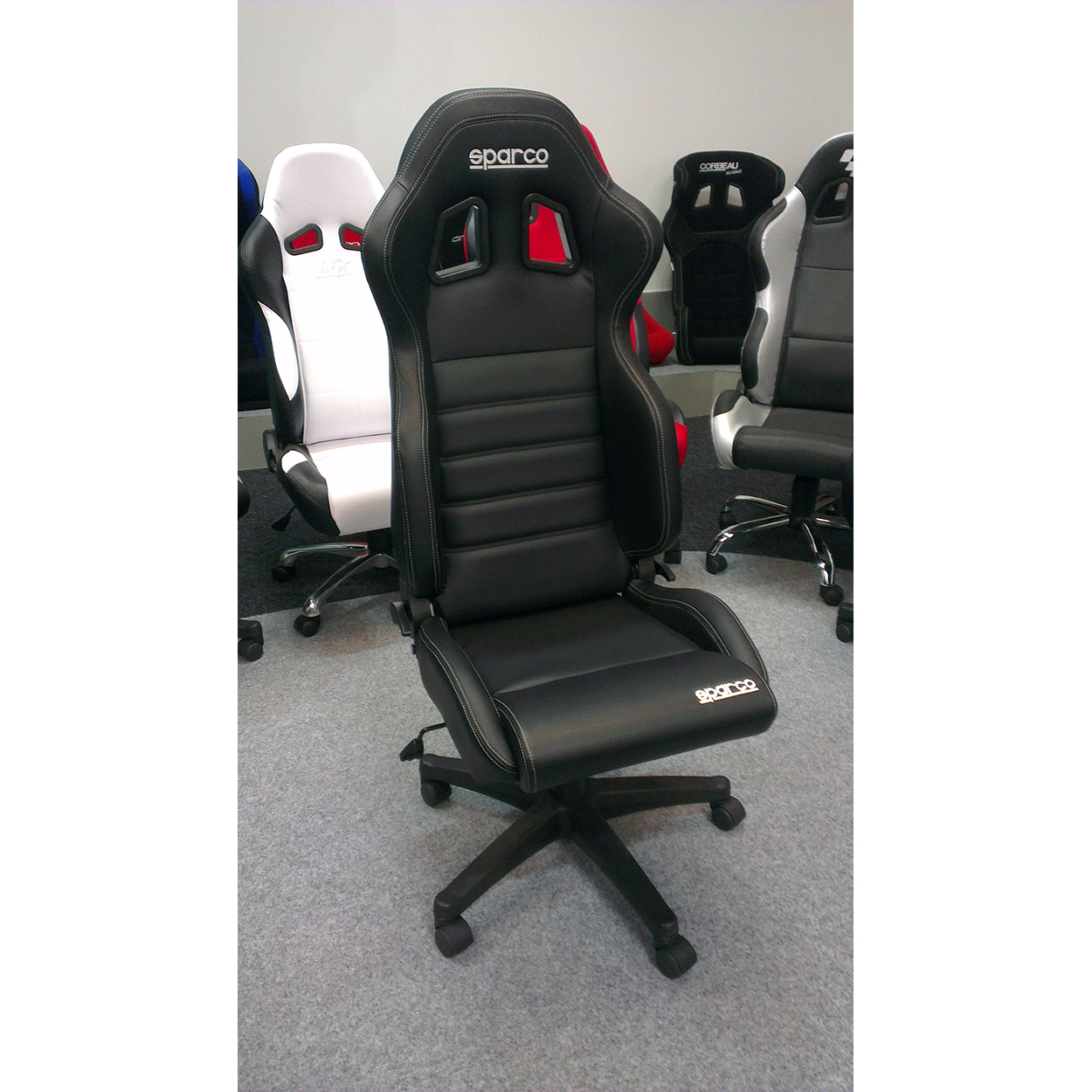 mesh seat back bucket and leather desk racing computer ergonomic chair high lumbar swivel furmax office pin executive support pu