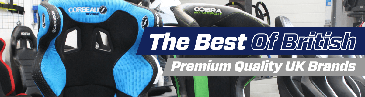 Cobra, Corbeau and OMP classic and retro bucket seats are available online and in-store