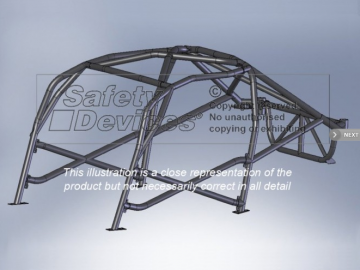Safety Devices BMW 3 Series E46 Coupe 6 Point Bolt-in Roll Cage