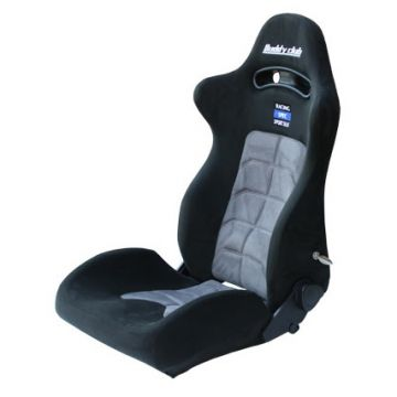 Buddy Club Racing Spec  Black/Grey Recliner Seat