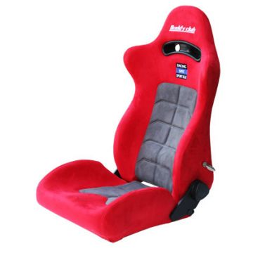 Buddy Club Racing Spec Red/Grey Recliner Seat