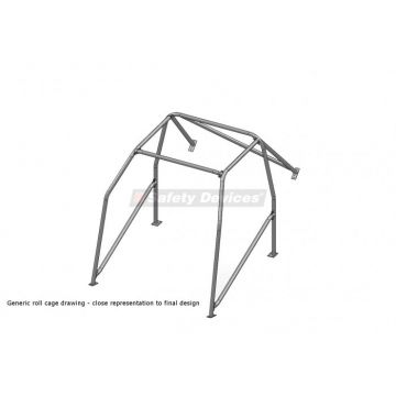 Safety Devices Honda Civic EK9 6 Point Bolt-In Roll Cage