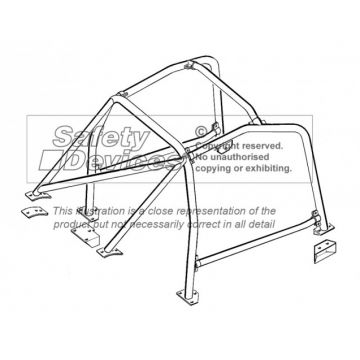 Safety Devices Fiat 124 Saloon 6 Point Bolt-In Roll Cage