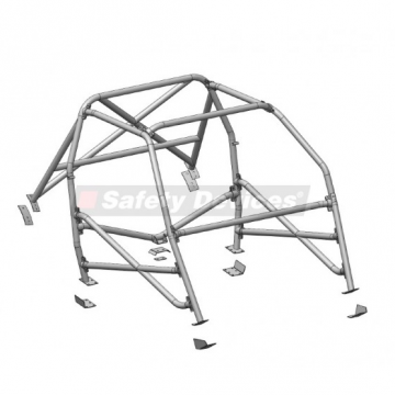Safety Devices Ford Escort Mk2 Multipoint Bolt-In Roll Cage (Arch Mount)