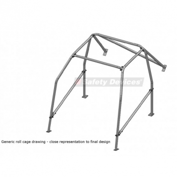 Safety Devices Peugeot 106 6 Point Bolt-In Roll Cage