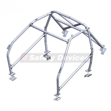Safety Devices Ford Escort Mk3 Multipoint Bolt-In Roll Cage