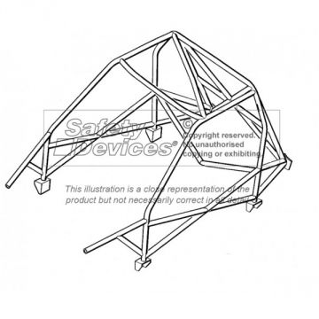 Safety Devices Ford Escort Mk2 CDS Weld-In Roll Cage