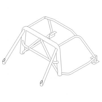 Custom Cages Lotus Elise 6 Point T45 Weld-In Roll Cage