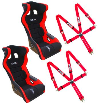 Mirco RS2 Seats, Side mounts and TRS 6 Point Harnesses