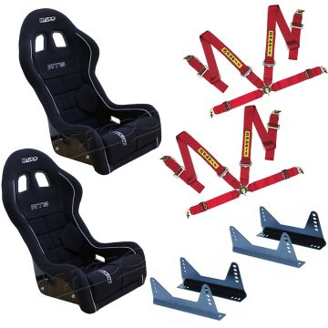 Mirco RTS FIA Bucket seats, side mounts and Sabelt 4 point harnesses